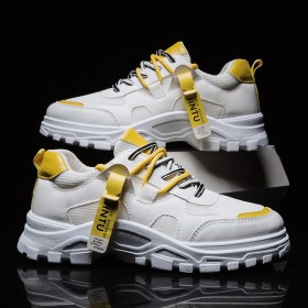 运动鞋男韩版学生板鞋新款老爹鞋男士网鞋