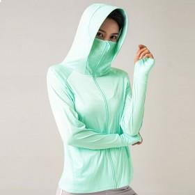 防晒衣女士学生韩版网红夏季新薄款中长款冰丝骑车防紫