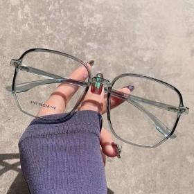 眼镜近视女有度数可配素颜眼镜框网红平光镜...