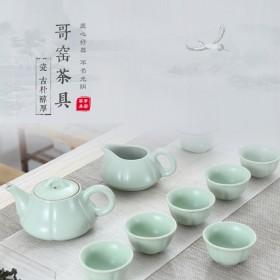 哥窑茶具套装品茗杯西施壶家用冰裂开片茶壶茶杯简约功