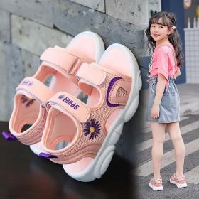 《实心底》女童凉鞋儿童公主鞋水钻软底沙滩鞋2020