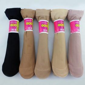 1双装春夏女士薄款短丝袜天鹅绒小辣椒袜子加固防脱丝