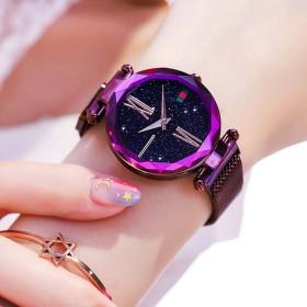 吸铁磁吸石网红石英女士款星空抖音同款奢华手表