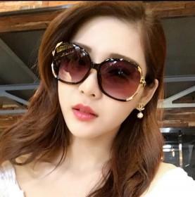 防晒偏光墨镜女士潮明星款圆形个性太阳镜防紫外线眼镜