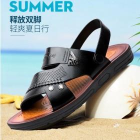 凉鞋男士夏季透气休闲沙滩鞋男潮流外穿爸爸两用凉拖鞋