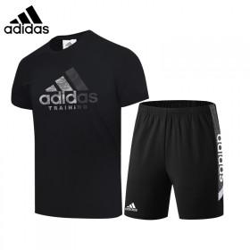 阿迪三叶草男士运动套装夏季新款短袖t恤休闲纯棉