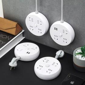 无线插座带线USB多孔开关桌面多功能插线板电源接线