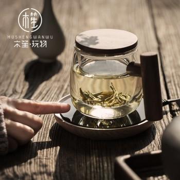 木笙圆趣杯创意透明玻璃杯茶水分离过滤泡茶杯日式品花