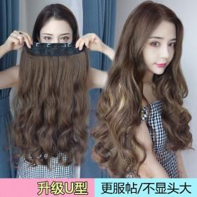 假发女长直发大波浪一片式五卡网红可爱隐形无痕长卷发