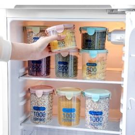 厨房透明食品保鲜密封罐储物罐带盖塑料杂粮收纳罐