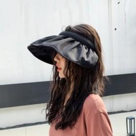空顶帽女韩版百搭防晒遮阳帽可折叠防紫外线发箍遮