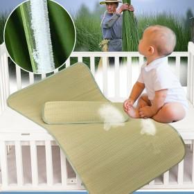 婴儿床草席夏天然植物蔺草兰草儿童凉席幼儿园夏季宝宝