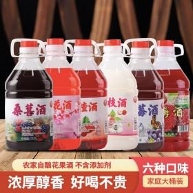 低度果酒微醺5斤杨梅酒山楂蓝莓荔枝桑葚蓝莓桃花酒