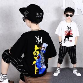 男童夏季套装韩版短袖洋气中大童两件套儿童休闲衣服