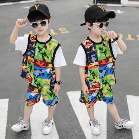 男童夏装套装2020年新款网红洋气潮流夏季帅气时髦