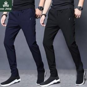 迪赛吉普休闲裤男裤子男修身长裤新款速干裤大码运动裤