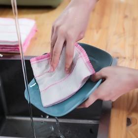洗碗巾8层木纤维抹布加厚不沾油5层棉纱洗碗布吸水百