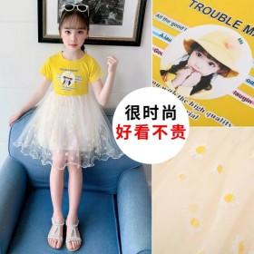 女童连衣裙夏季雪纺2020新款韩版时尚儿童公主裙洋