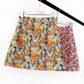 小碎花半身裙2020夏薄款短裙油画风韩版高腰小个子