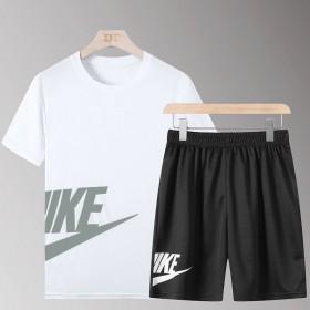 一套】男士短袖t恤运动套装潮牌潮流衣服夏季宽松打底