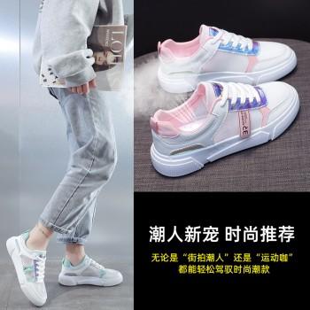 网红镂空小白鞋女2020夏季新款网面透气单鞋