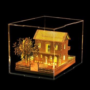 拼酷3D立体拼图金属拼装模型建筑DIY手工玩具益智