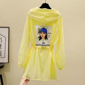防晒衣女大码长袖夏装新款学生外套韩版中长款空调衫