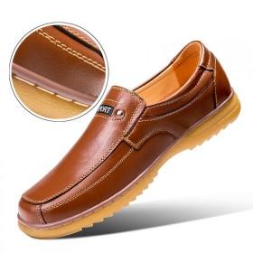 头层牛皮牛筋底皮鞋男男士商务休闲皮鞋真皮牛筋底男鞋