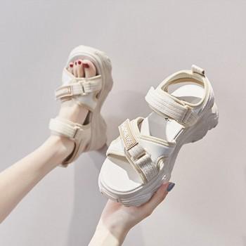 老爹运动凉鞋女学生 韩版夏新款网红ins厚底百搭魔