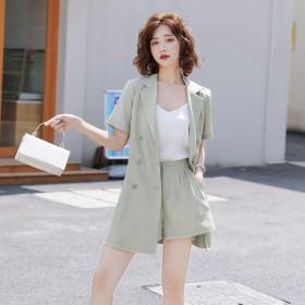 套装女夏2020新款韩版西装短裤职业洋气时尚小香风