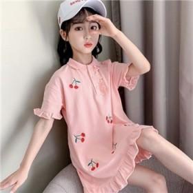 女大童连衣夏装2020新款时尚韩版儿童polo衫裙