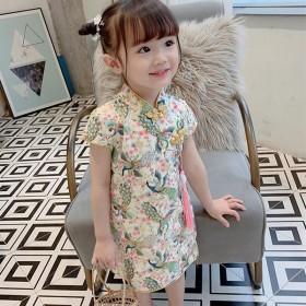 女童汉服连衣裙夏中国风旗袍裙古风儿童装超仙唐装