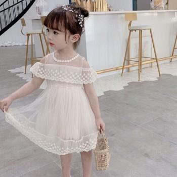 2020新款连衣裙宝宝公主裙夏季洋气纱裙儿童蕾丝裙