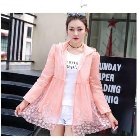 防晒衣女夏季新款韩版防晒防紫外线宽松透气蕾丝长袖