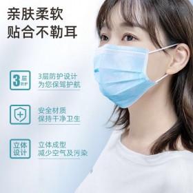 【100只】一次性口罩三层熔喷布