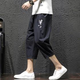 棉麻休闲裤男士七分短裤子中国风亚麻7分裤潮流百搭2