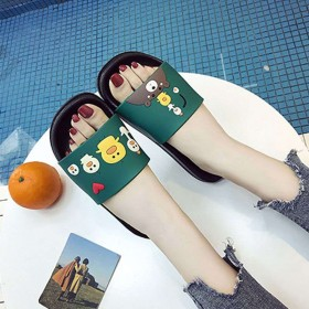 【买3送1】居家可爱情侣一字拖鞋女夏季外穿防滑厚底