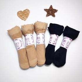 【5】双女士夏季薄款包芯透明肉黑色水晶丝袜子女