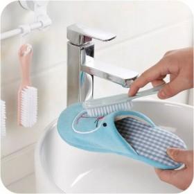素色软毛洗鞋刷 塑料小鞋刷鞋子清洁刷 洗