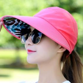 帽子女夏天休闲可折叠防晒太阳帽遮阳帽
