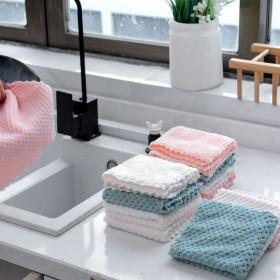 家用洗碗布不沾油抹布厨房用品吸水毛巾不掉毛擦桌布家