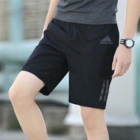 夏季跑步运动短裤男休闲韩版速干沙滩裤男士短裤五分裤