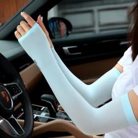 防晒袖套夏季户外骑行开车套袖手套护袖护臂冰爽冰丝
