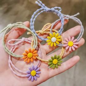 彩色雏菊发绳泫雅花朵发圈韩国少女可爱头绳扎马尾