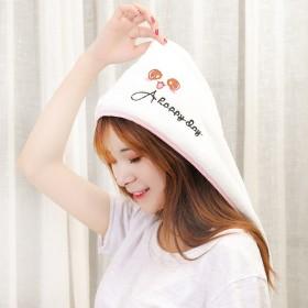 韩式干发帽 爱心速干发帽 洗头快速吸水毛巾帽子-1