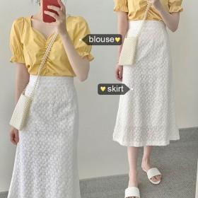 两件套夏季新款韩版时尚ins小清新上衣气质甜美半身
