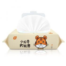 植护 新生婴儿湿纸巾带盖便携式80抽湿巾