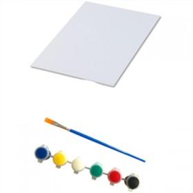 【画笔+画板+颜料】新手绘画练习套装