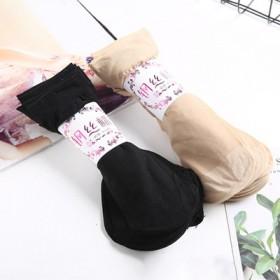 【5双】短丝袜女士夏季薄款包芯丝透明肉黑色水晶丝袜