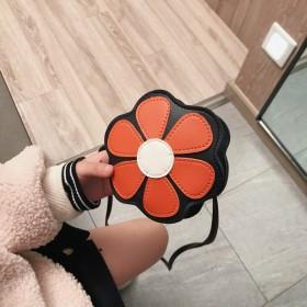 跨境春季新款儿童包花朵斜挎包时尚小学生单肩迷你包包